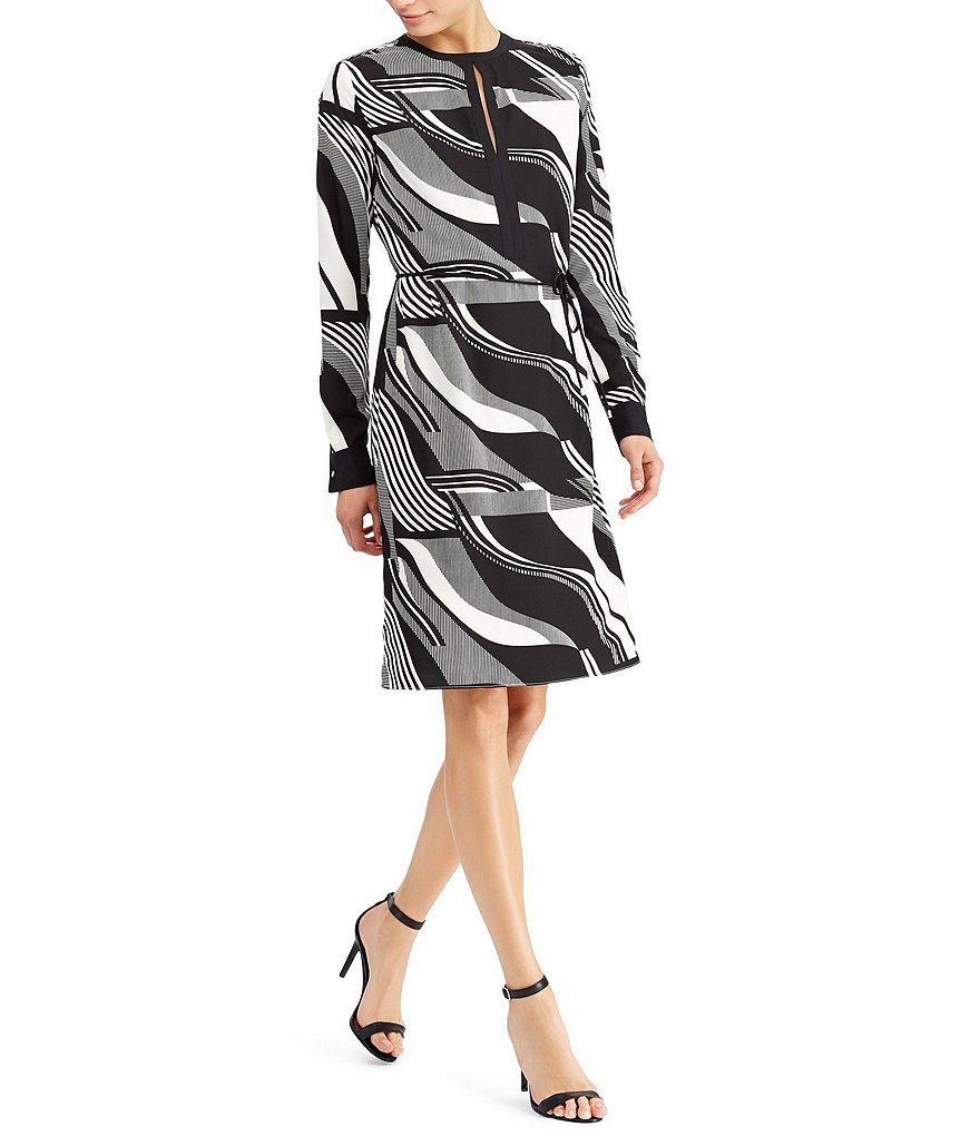 Lauren Ralph Lauren Petite Printed Crepe Dress