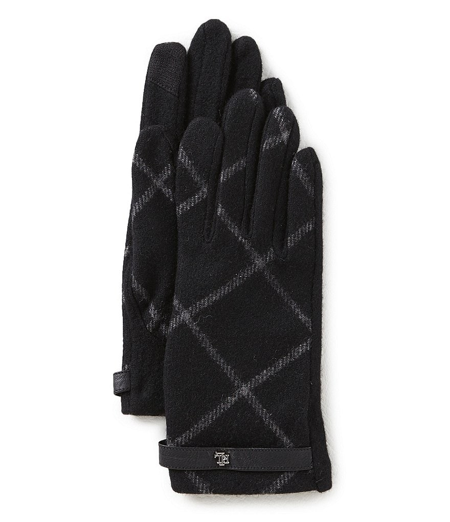 Lauren Ralph Lauren Plaid Touch Gloves