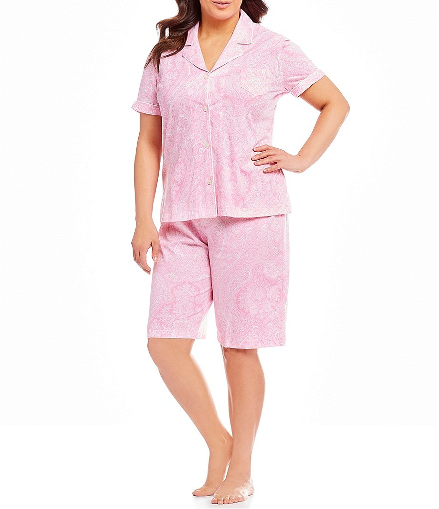 Lauren Ralph Lauren Plus Dotted Pajama Set