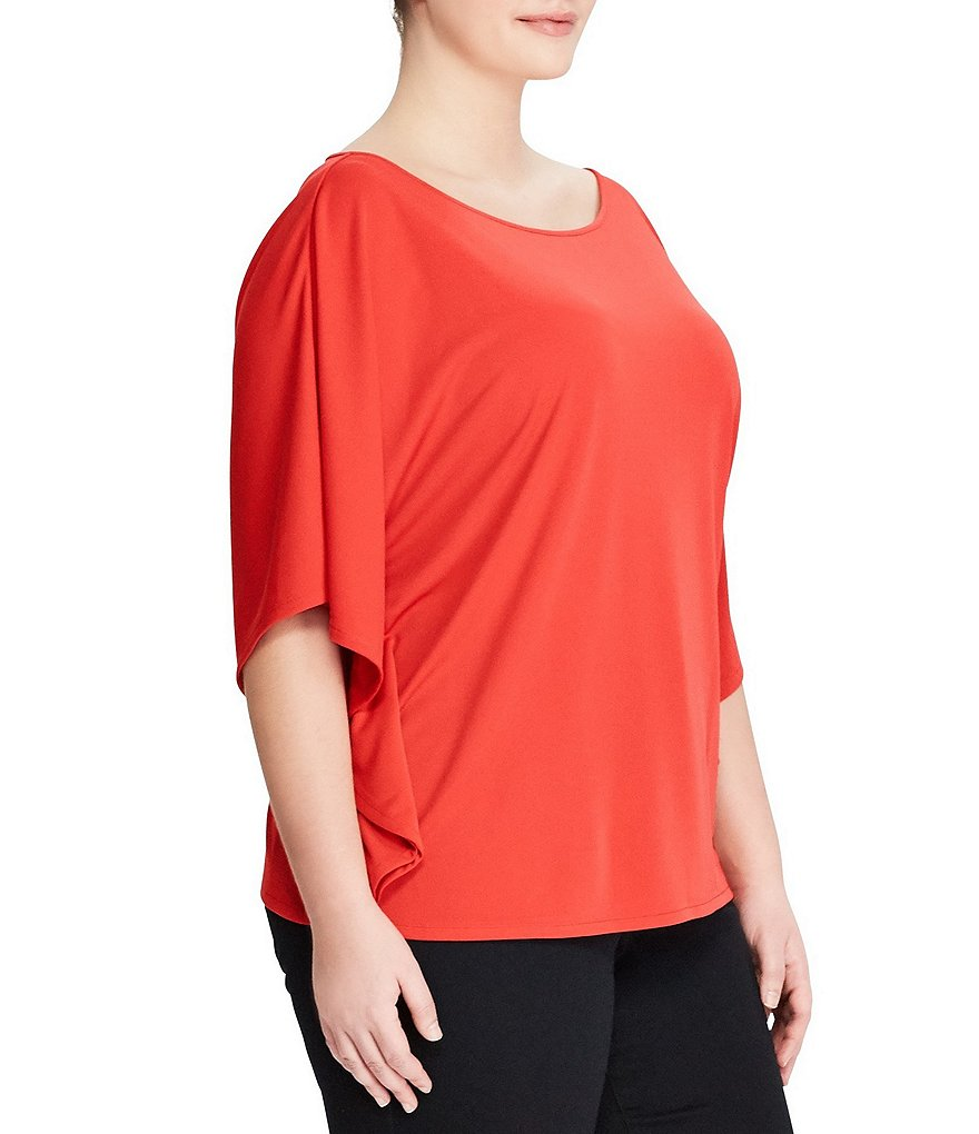 Lauren Ralph Lauren Plus Jersey Dolman-Sleeve Top