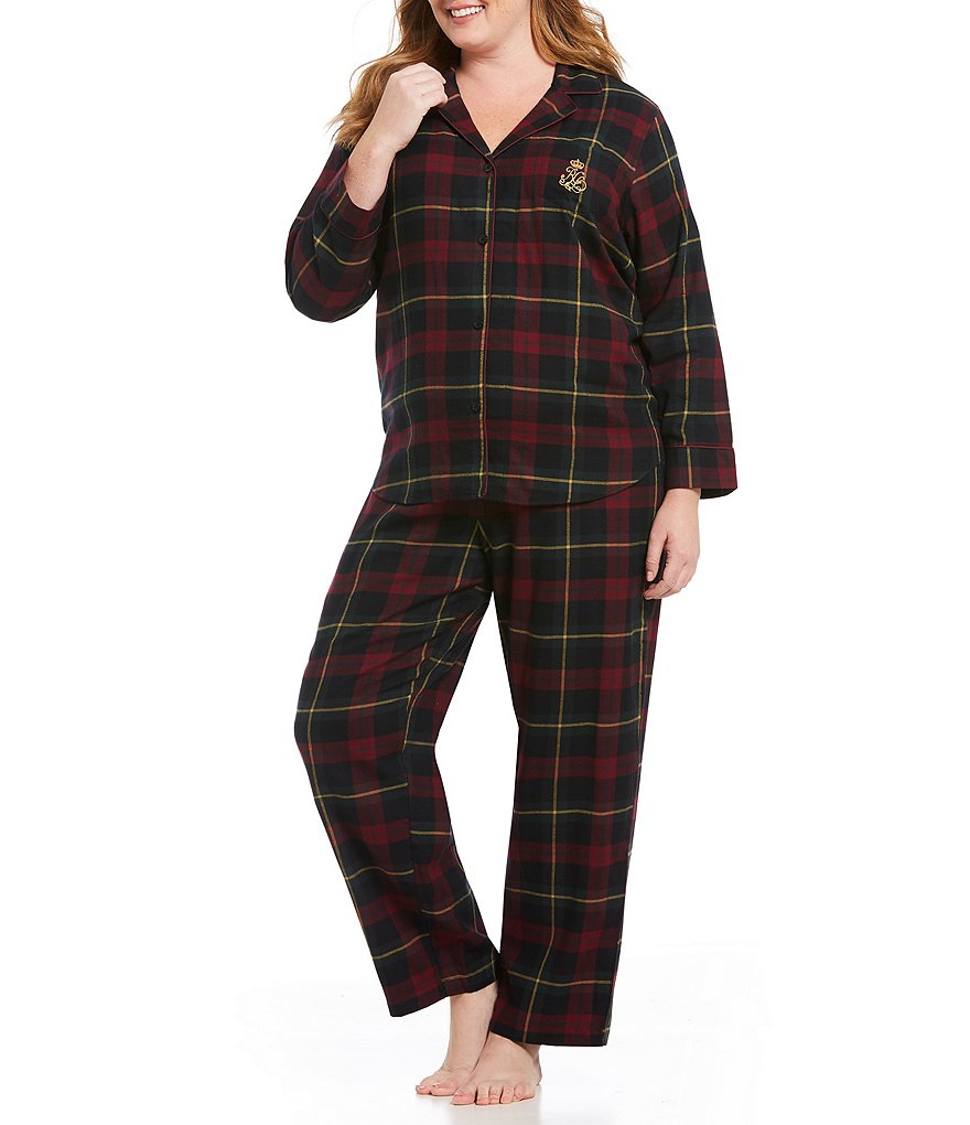 Lauren Ralph Lauren Plus Plaid Classic Pajamas
