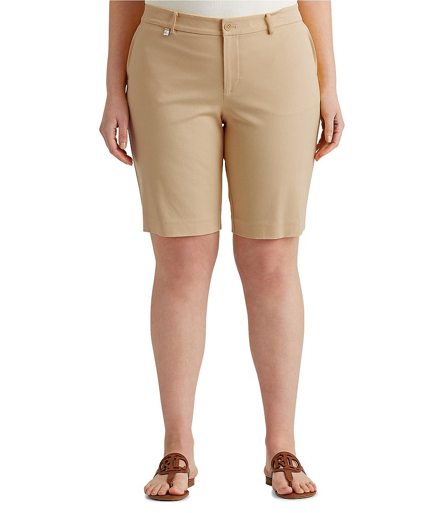 Lauren Ralph Lauren Plus Stretch Cotton Twill Short