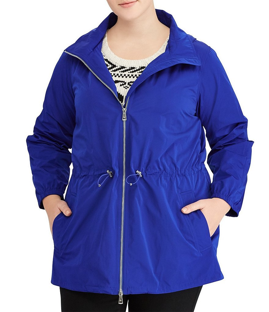 Lauren Ralph Lauren Plus Taffeta Hooded Anorak