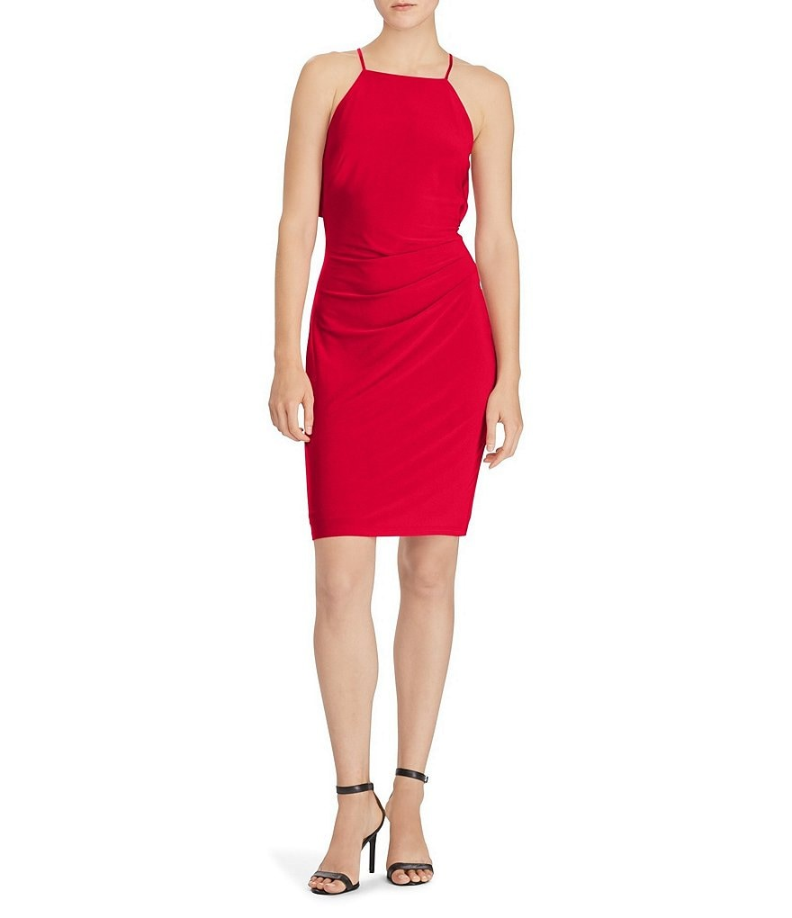 Lauren Ralph Lauren Ruffle-Back Jersey Dress