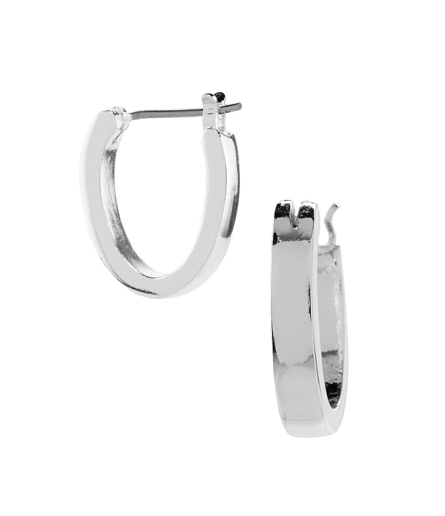 Lauren Ralph Lauren Silvertone Hoop Earrings
