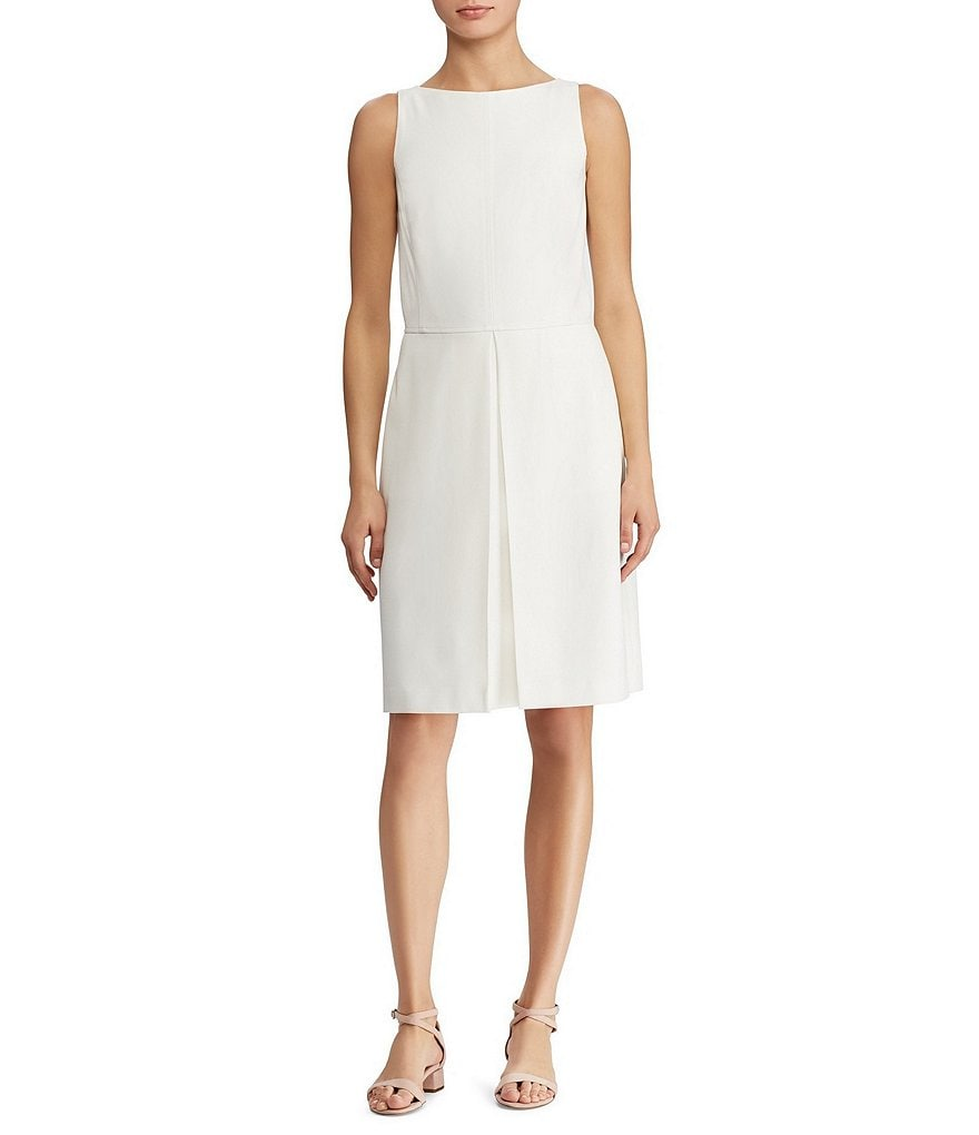Lauren Ralph Lauren Stretch Twill Fit-and-Flare Dress