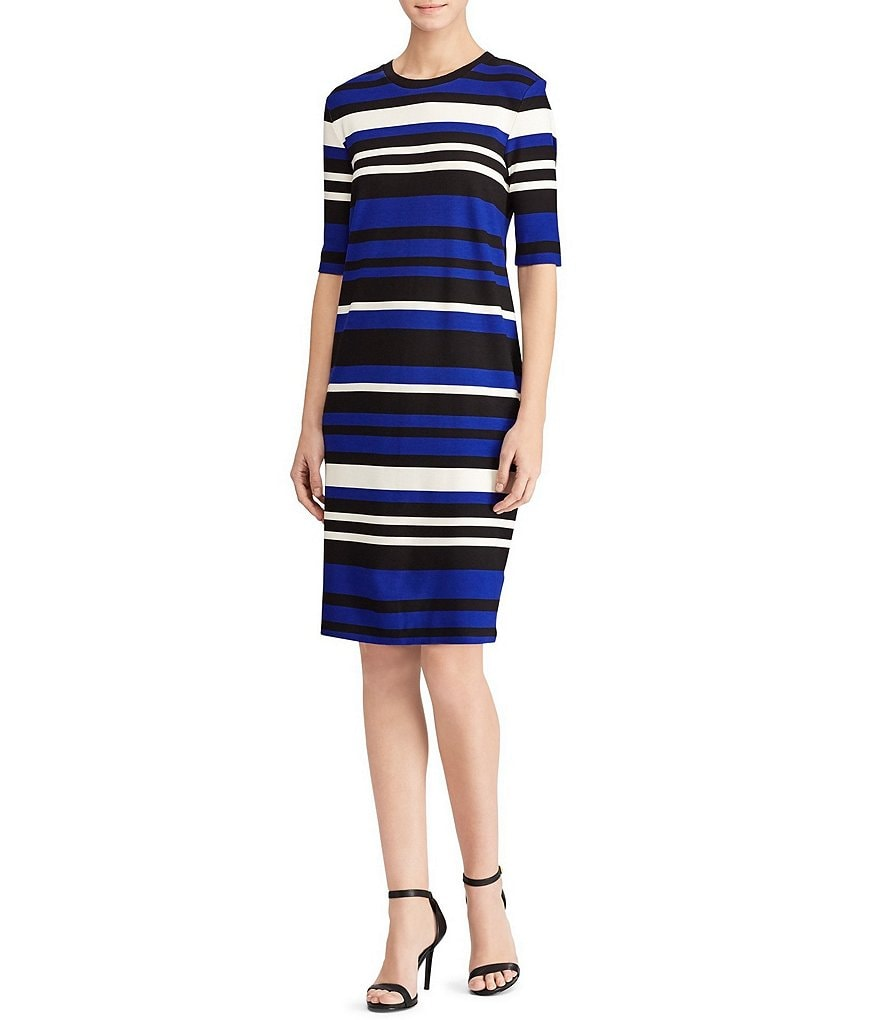 Lauren Ralph Lauren Striped Ponte Dress