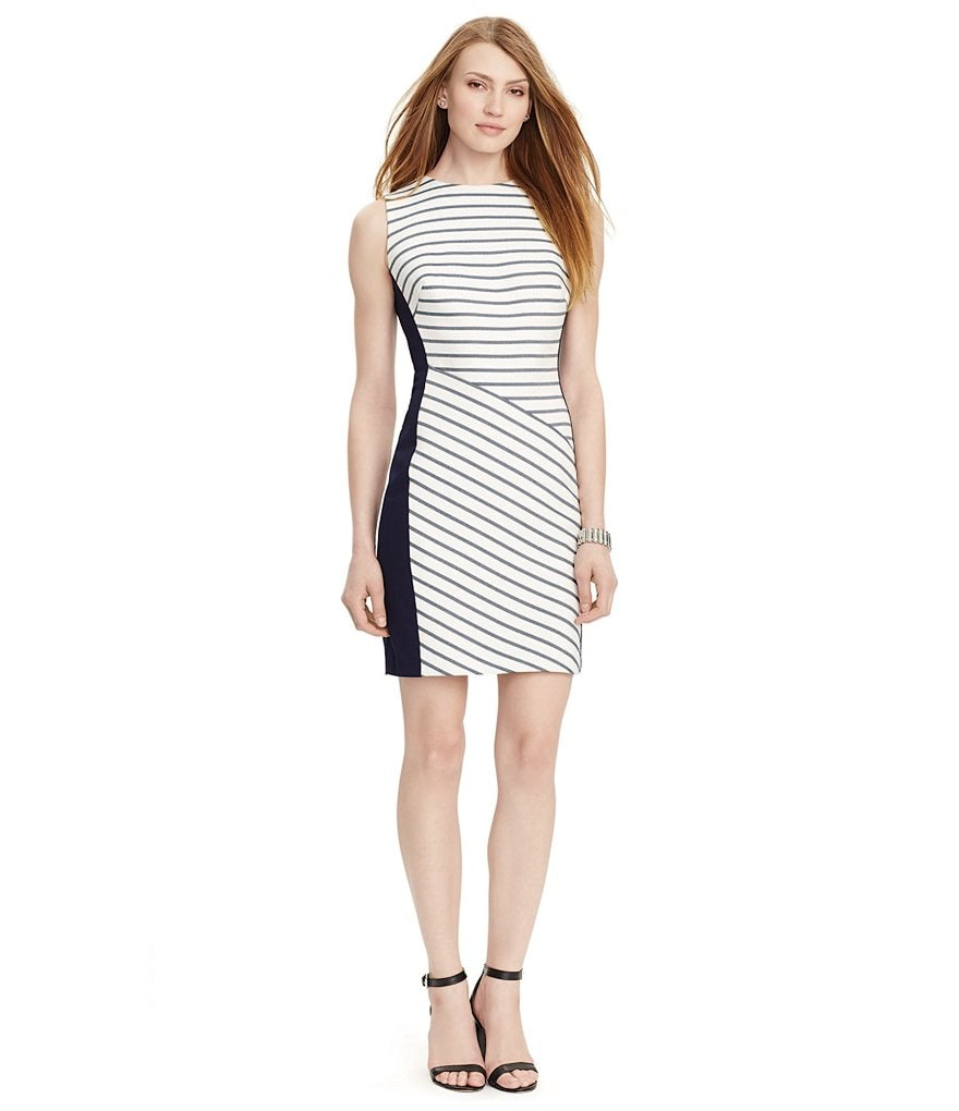 Lauren Ralph Lauren Striped Sleeveless Dress
