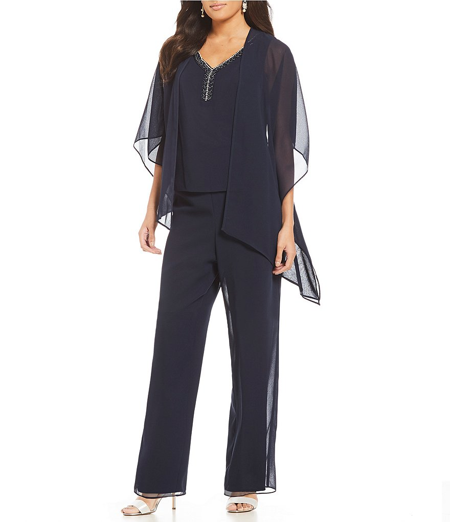 Le Bos Asymmetrical-Hem 3 Piece Pant Set