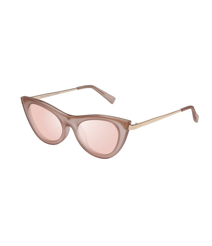 Le Specs Enchantress Mirrored Cat-Eye Sunglasses