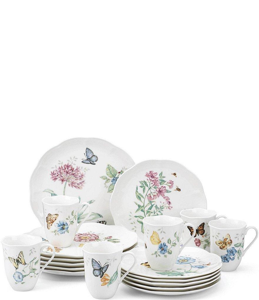 Lenox Butterfly Meadow 18-Piece Dinnerware Set  sc 1 st  Dillardu0027s & Lenox Butterfly Meadow 18-Piece Dinnerware Set | Dillards