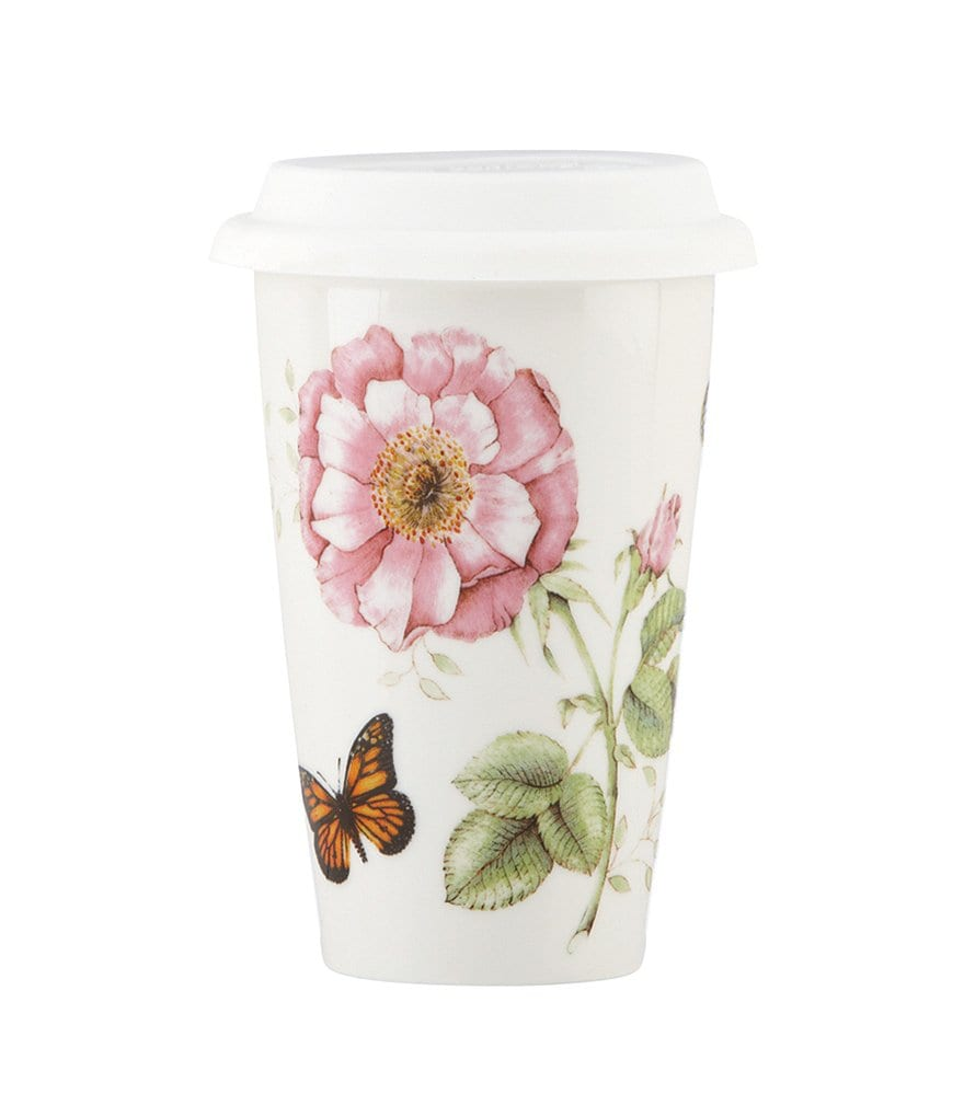Lenox Butterfly Meadow Floral Porcelain Travel Mug