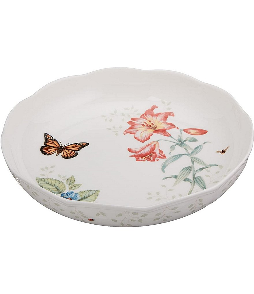 Lenox Butterfly Meadow Porcelain Low Serving Bowl