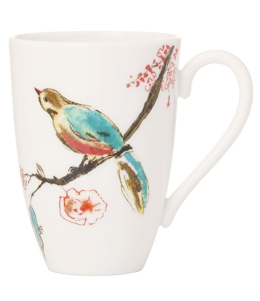 Lenox Chirp Floral & Bird Bone China Mug