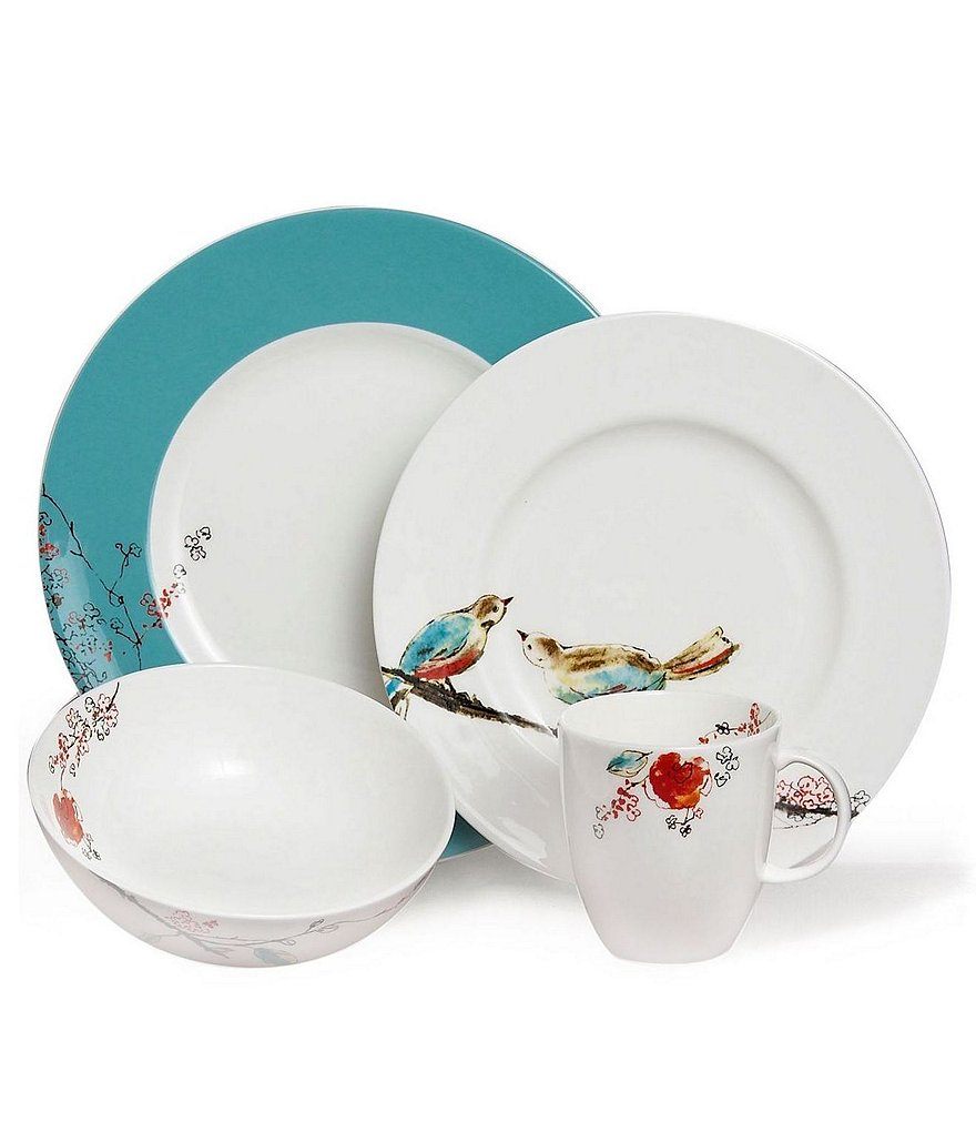 Lenox Chirp Floral & Bird 4-Piece Place Setting