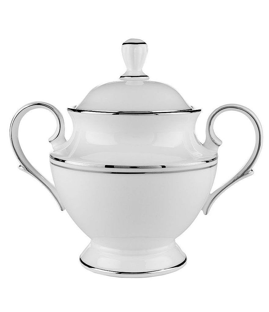 Lenox Federal Platinum Sugar Bowl with Lid