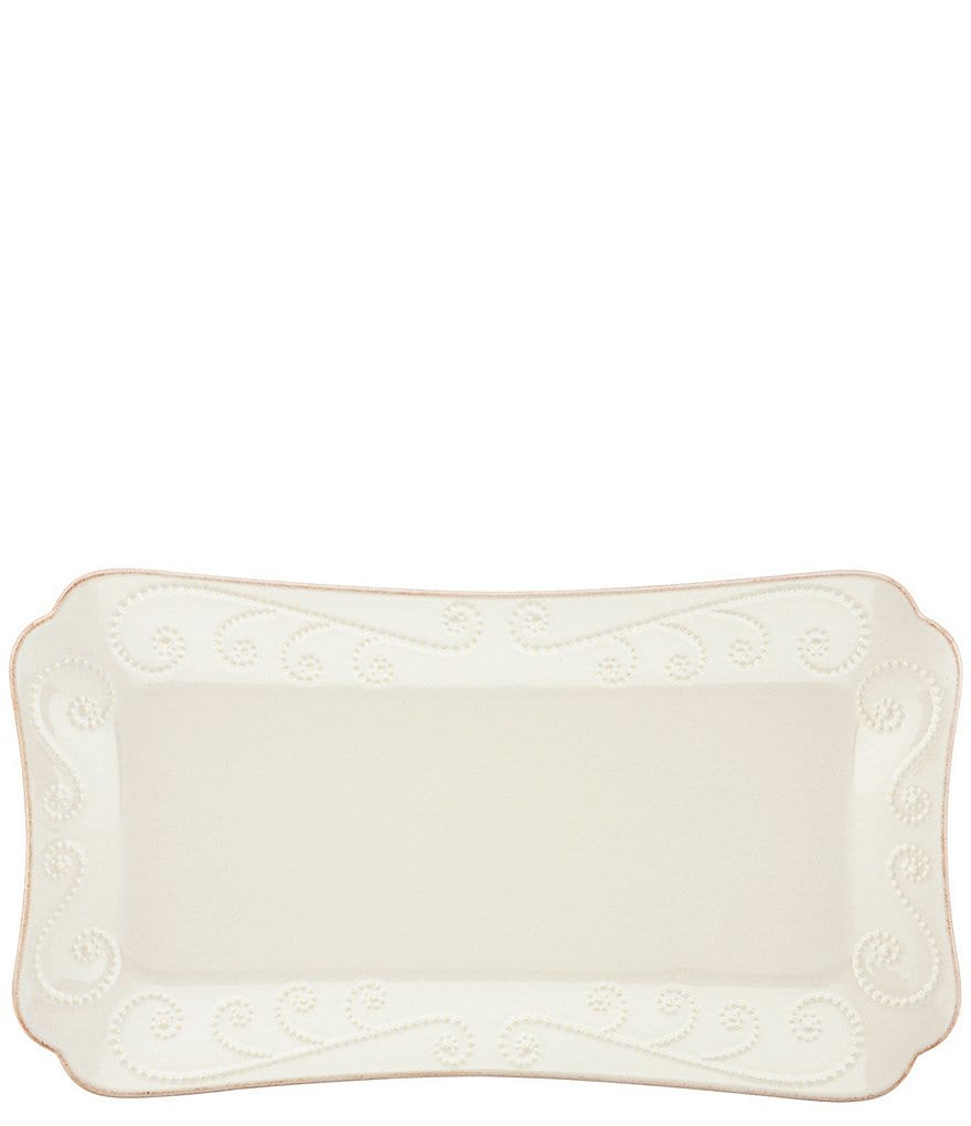 Lenox French Perle Scalloped Stoneware Hors d´Oeuvre Tray
