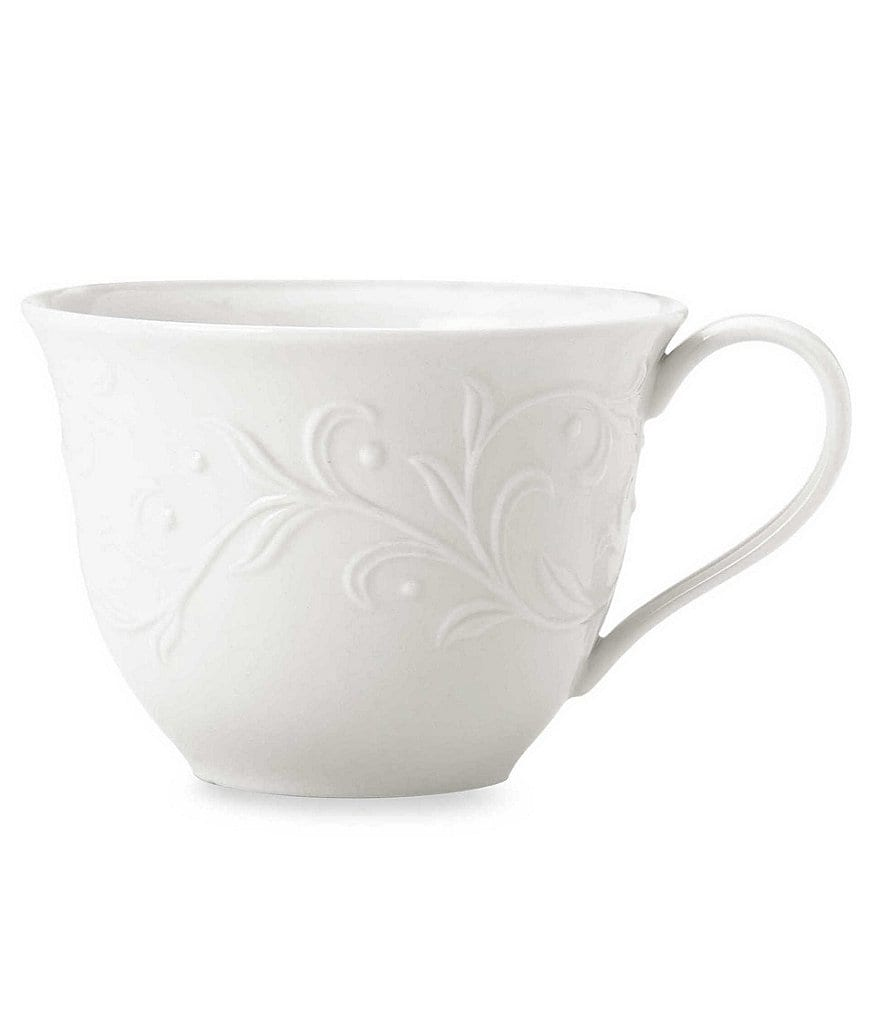 Lenox Opal Innocence Carved Scroll Porcelain Cup
