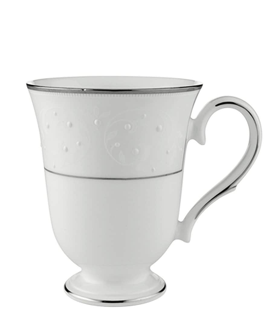 Lenox Opal Innocence Vine & Pearl Platinum Opalescent Bone China Accent Mug
