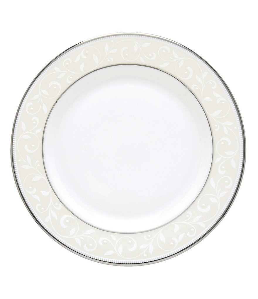Lenox Opal Innocence Vine & Pearl Platinum Opalescent Bone China Bread & Butter Plate