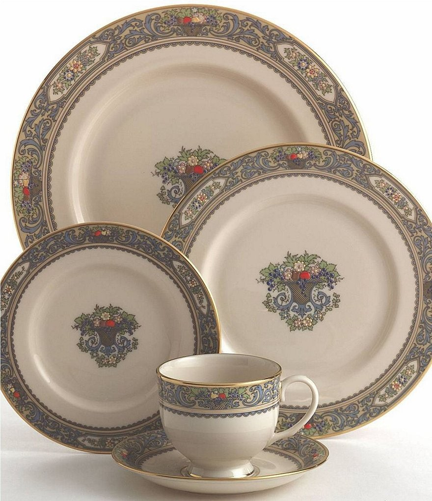 Lenox Presidential Collection Autumn Floral Fruit Basket 5-Piece Place Setting