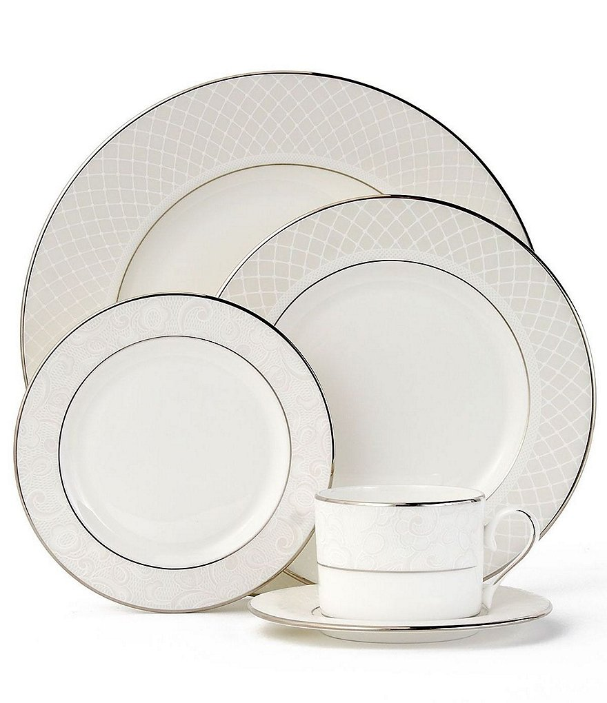 Lenox Venetian Lace Platinum Bone China 5-Piece Place Setting