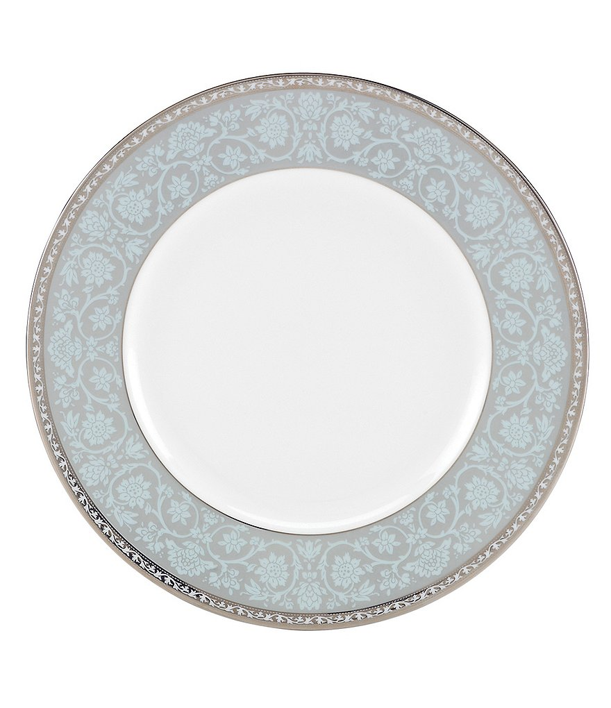 Lenox Westmore Floral Platinum Bone China Accent Salad Plate