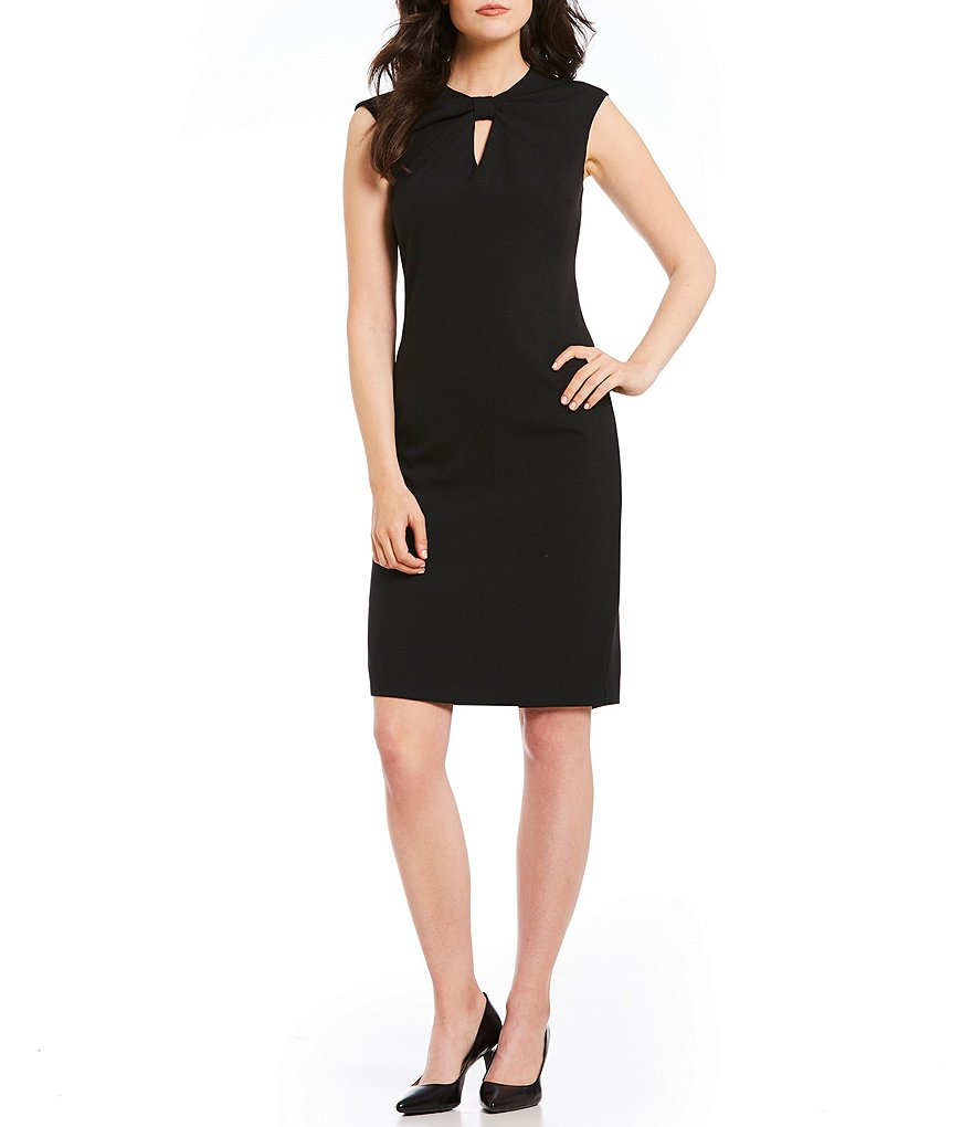 Leslie Fay Bow Front Sheath Dress