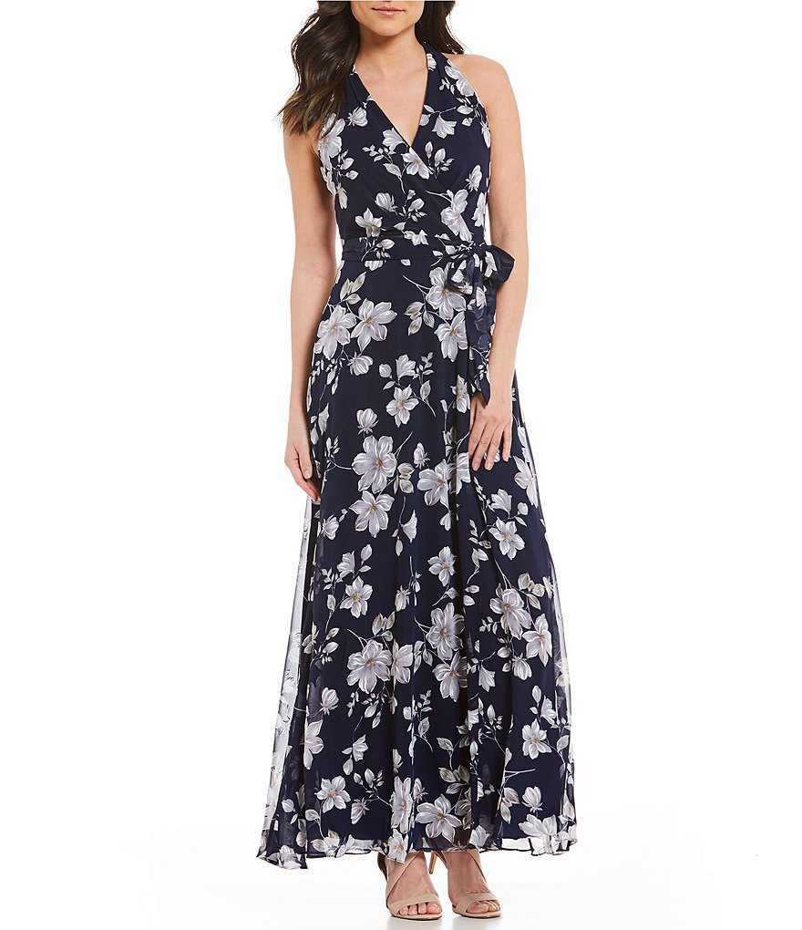 Leslie Fay Floral Print Dress