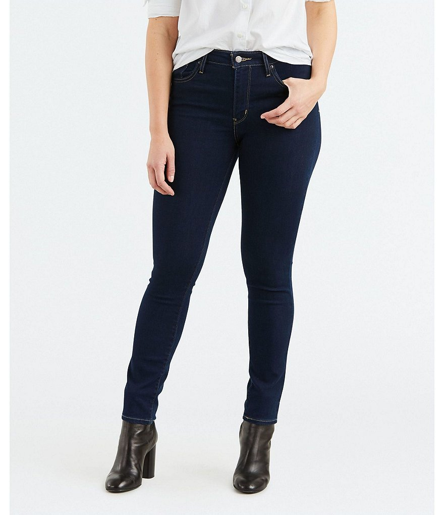 Levis skinny high rise jeans