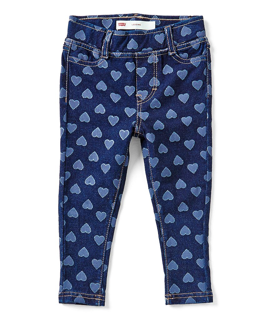 Levi's® Baby Girls 12-24 Months Haley May Heart-Printed Knit Denim Leggings