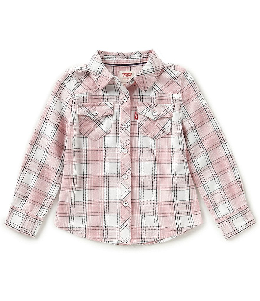 Levi's® Baby Girls 12-24 Months The Western Long-Sleeve Plaid Shirt