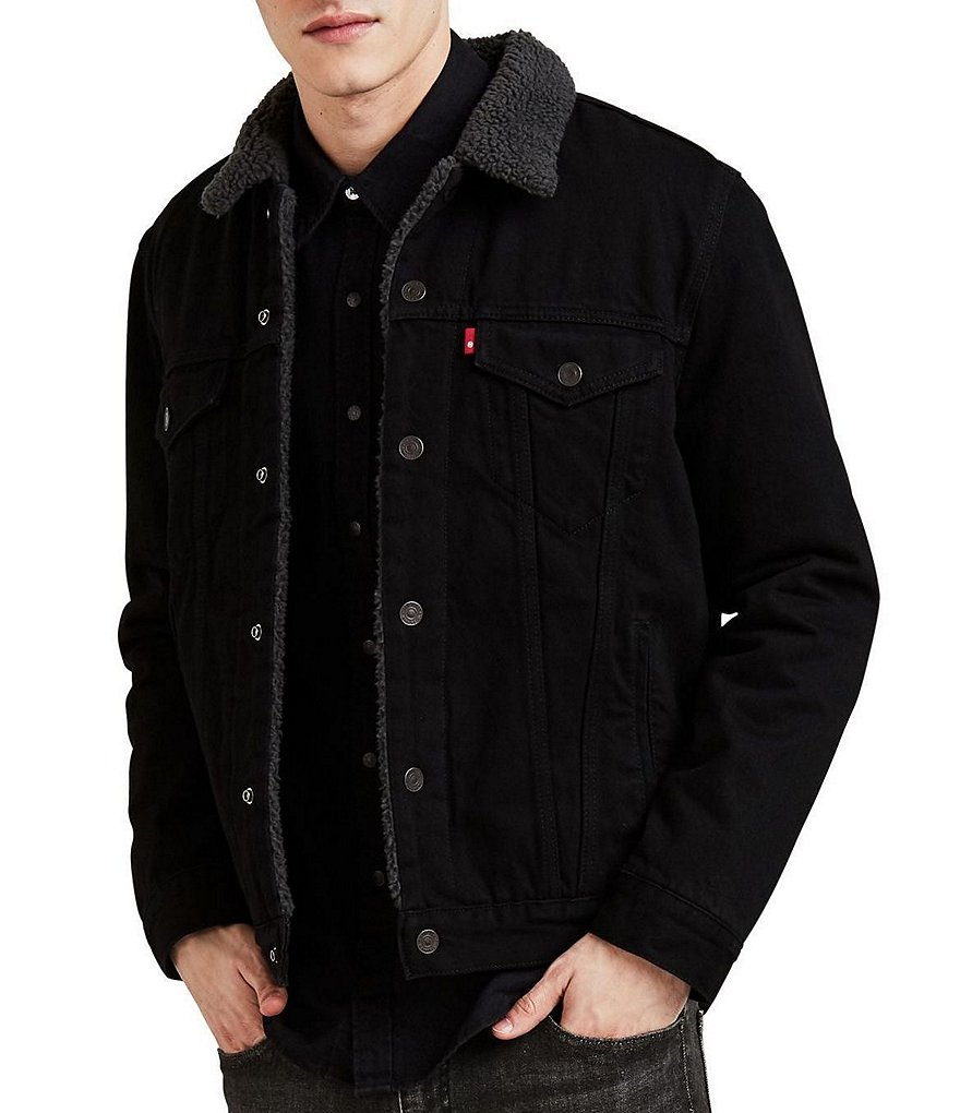 big sale various styles stable quality Levi's® Duvall Black Sherpa Trucker Jacket