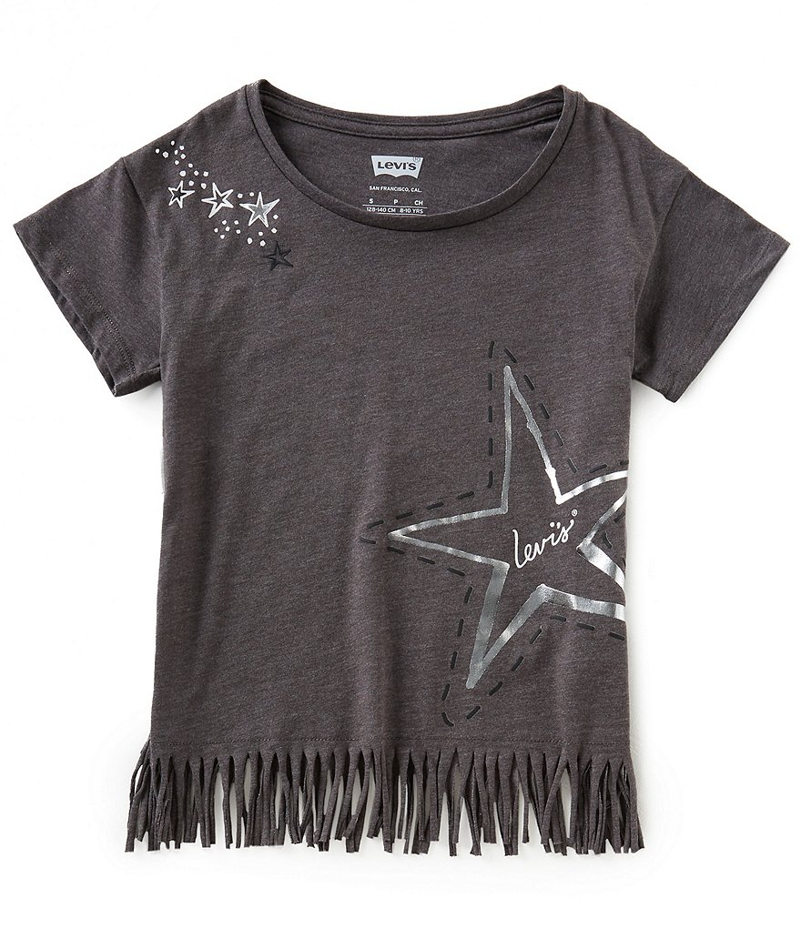 Levi's® Little Girls 2T-6X Fringe-Hem Knit Tee
