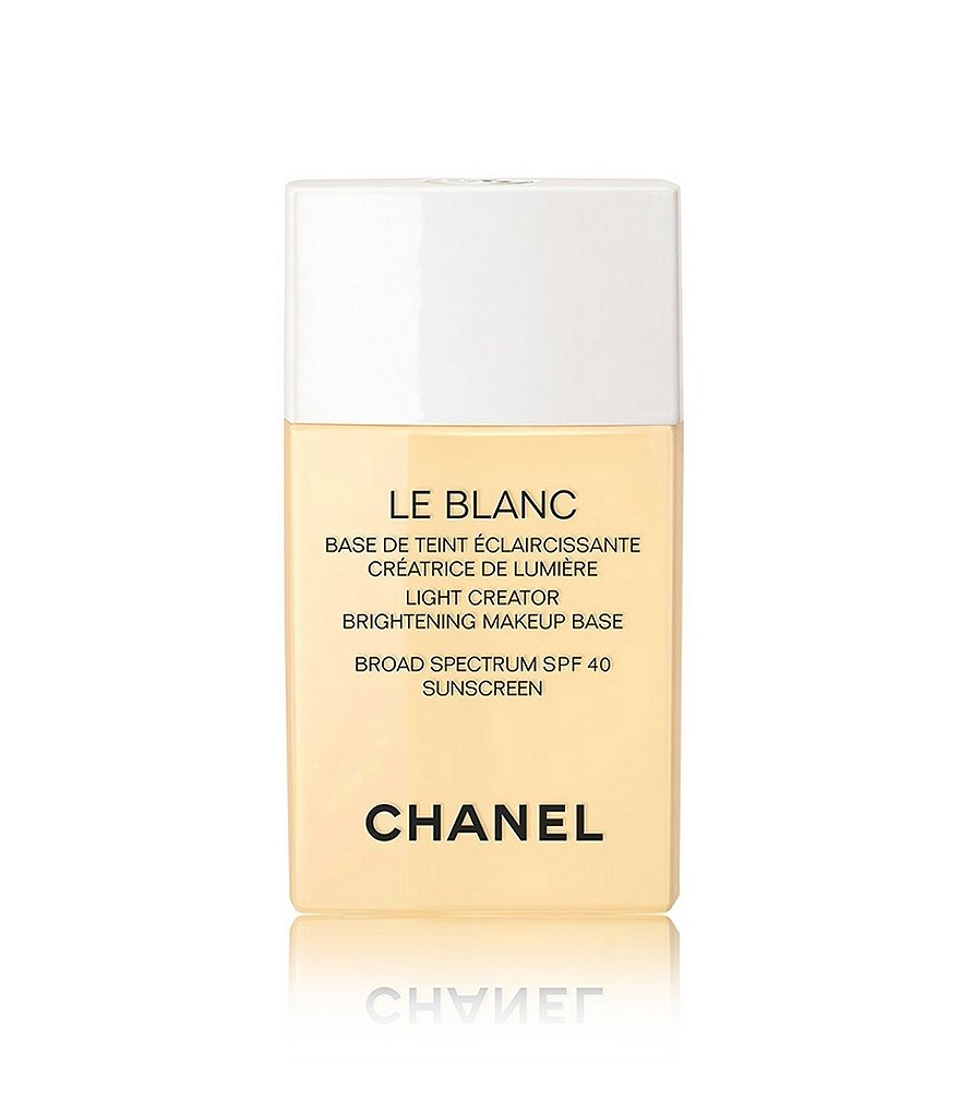 CHANEL LE BLANC LIGHT CREATOR BRIGHTENING MAKEUP BASE BROAD SPECTRUM SPF 40 SUNSCREEN