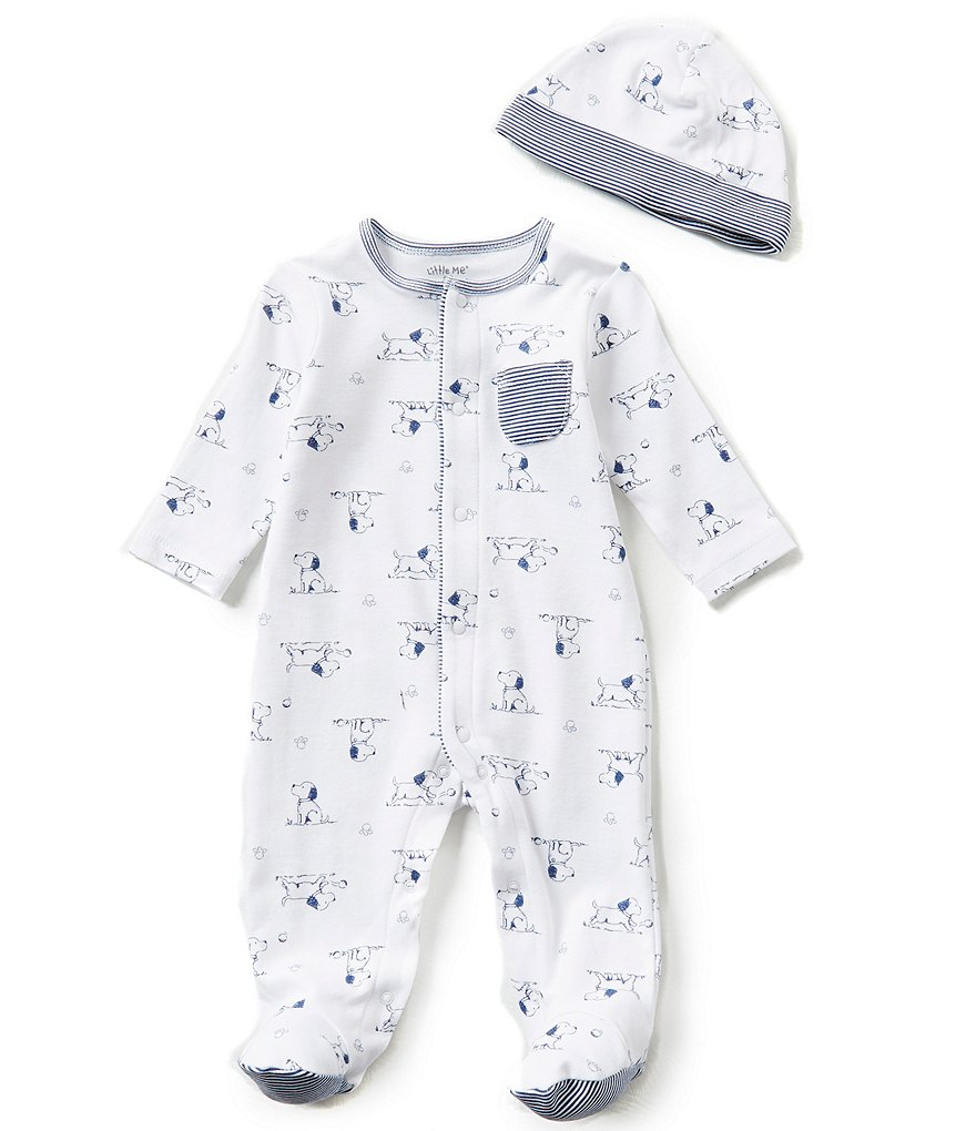 4f3bb352d504 Little Me Baby Boys Preemie-9 Months Puppy Toile Printed Footed ...