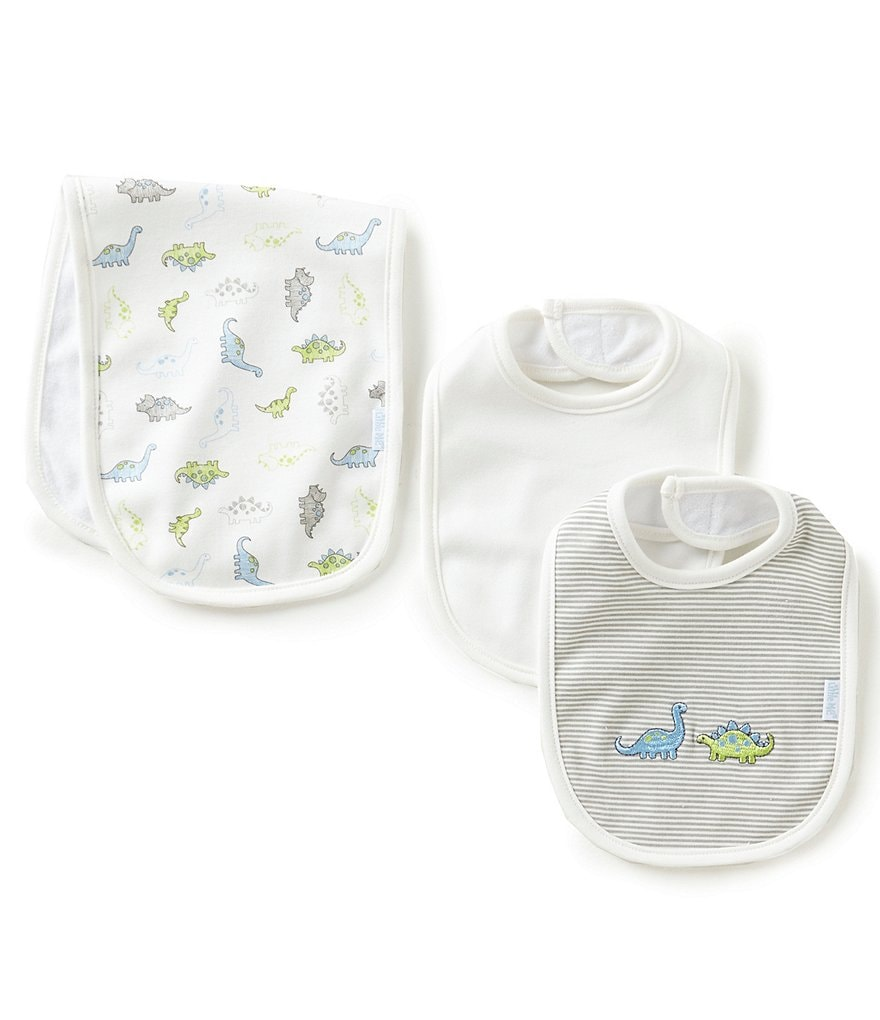 Little Me Baby Boys Tiny Dinos Bib & Burp Cloth Set