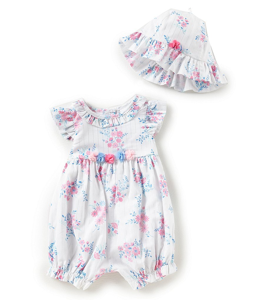 Little Me Baby Girls 3-9 Months Flutter-Sleeve Floral Romper