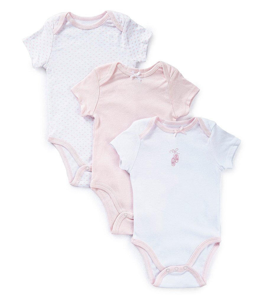 Little Me Baby Girls Newborn-9 Months Prima Ballerina Bodysuits 3-Pack