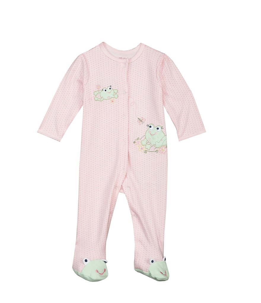 Little Me Baby Girls Preemie-9 Months Sweet Frogs Footie Set