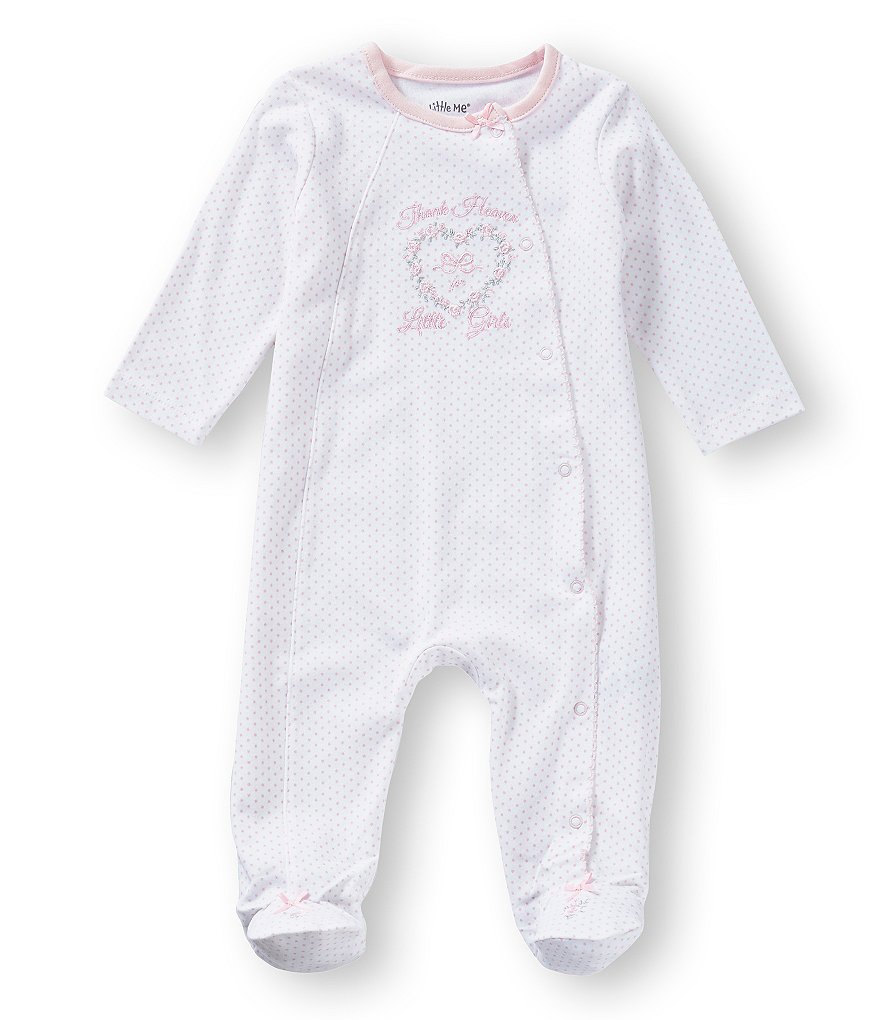 c9c37a34fec8 Little Me Baby Girls Preemie-9 Months Thank Heaven for Girls Footed ...