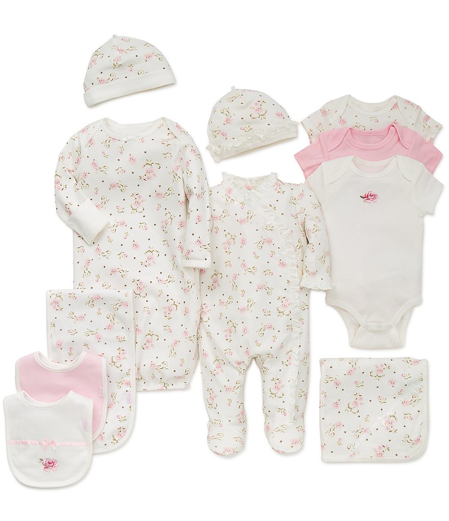 Little Me Baby Girls Preemie-9 Months Vintage Rose 7-Piece Layette Collection