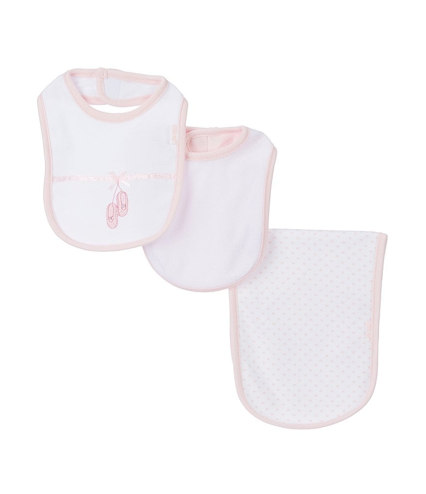 Little Me Ballerina Bib & Burp Cloth 3-Piece Layette Set