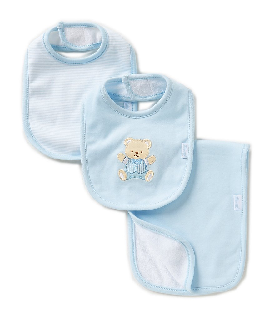 Little Me Cute Bear 3-Piece Bib & Burp Cloth Set