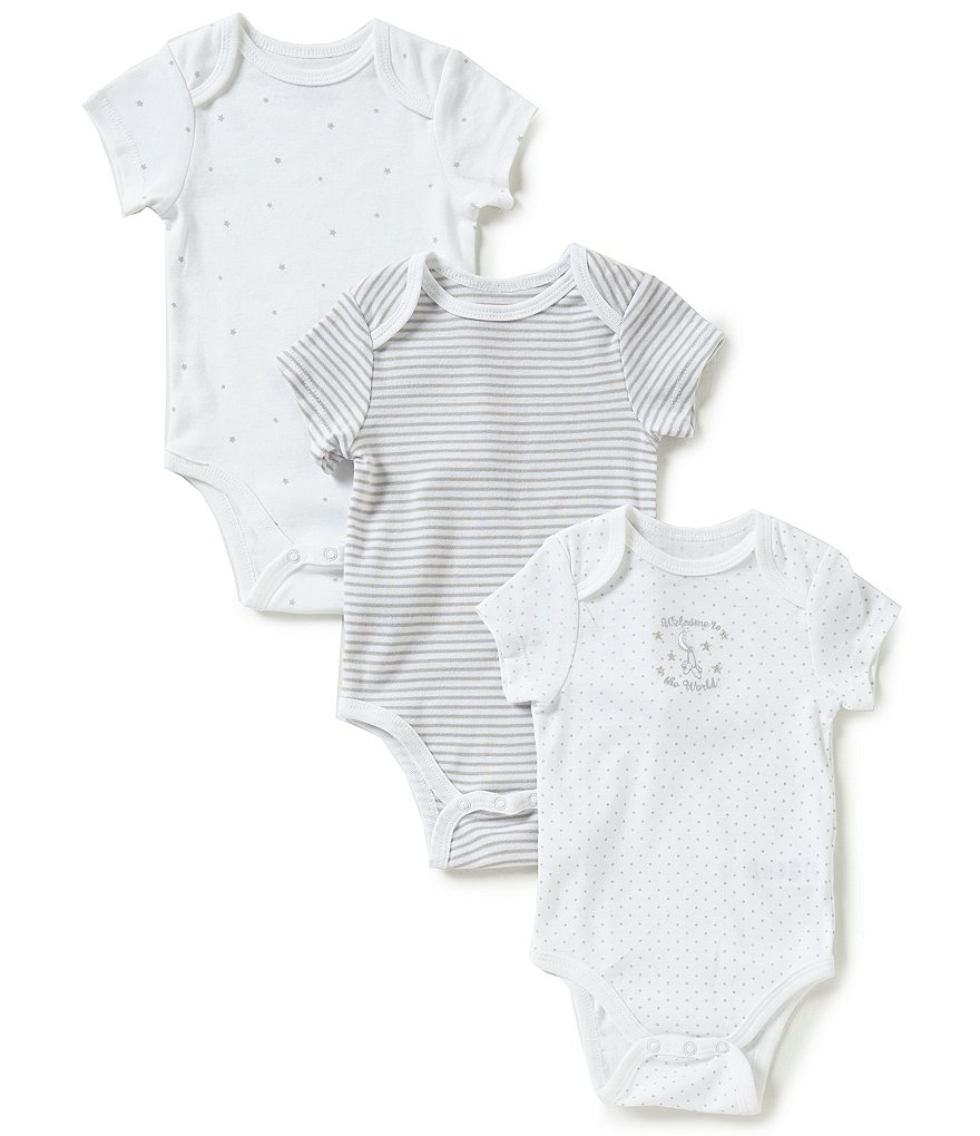 Little Me Baby Girls/Boys Newborn-9 Months Welcome to the World 3-Pack Bodysuits