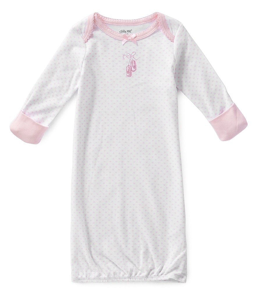 Little Me Baby Girls Prima Newborn-3 Months Ballerina Sleeper Gown