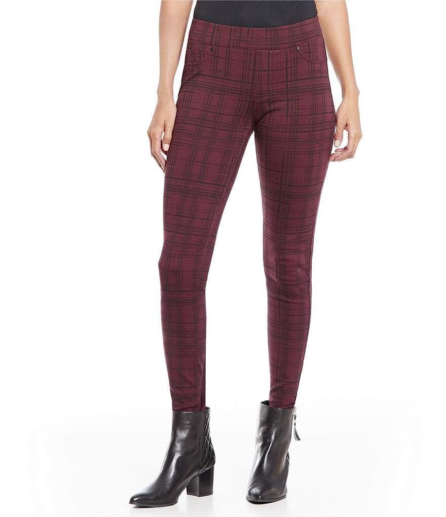 Liverpool Jeans Company Quinn Pull-On Plaid Leggings