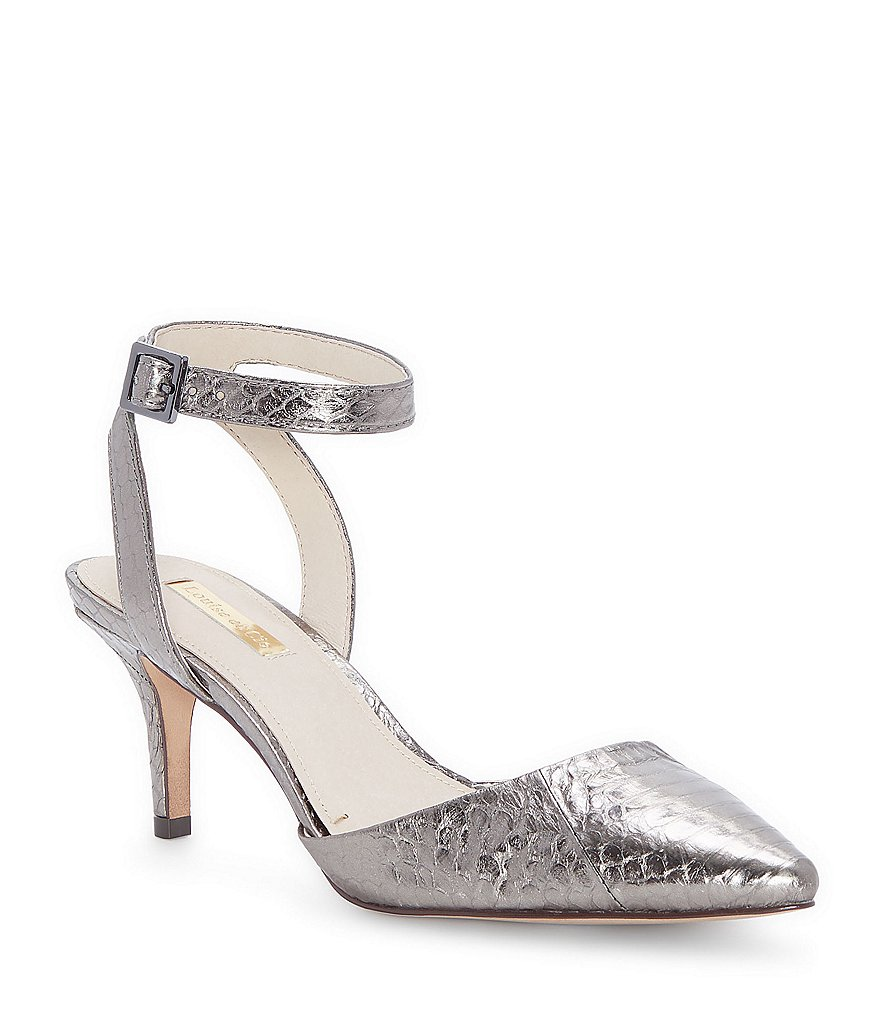 Esperance Metallic Snake Print Embossed Leather Dress Pumps dMjAQY7q
