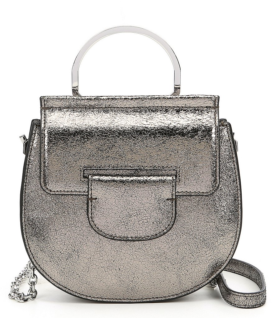 Louise et Cie Kaea Metallic Ring Handle Bracelet Bag