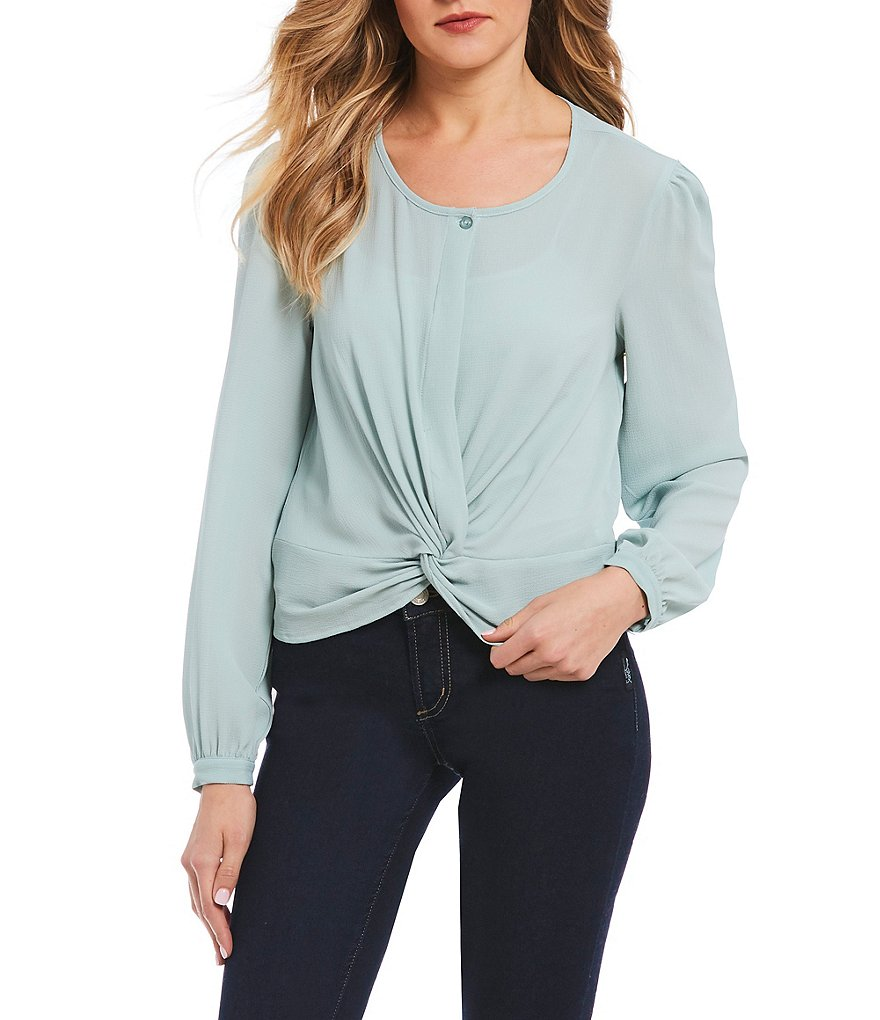 Love & Piece Long Sleeve Twisted Hem Top